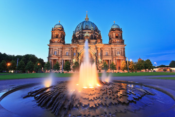 Berlin Cathedral (Berliner Dom) at twilight time