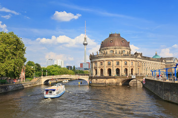 Bode Museum on museum island with Spree river