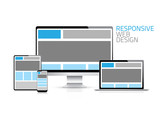 High quality responsive web design vector eps10