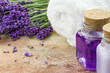 Lavender spa cosmetic products
