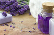 Spa cosmetic and wellness products of lavender