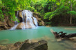 Hui Mae Kamin Waterfall in National Park, Kanchanaburi, Thailand