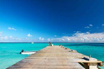 Beautiful beach with jetty