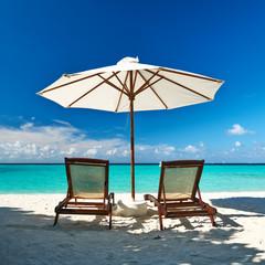 Beautiful beach at Maldives