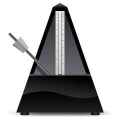 Black metronome vector illustration