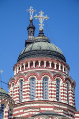 domes with crosses Annunciation Cathedral