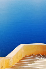 Stairway leading down to sea in Oia