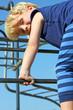 Child Climbing at Playground