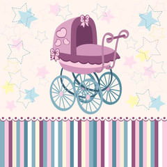 pram for the little ones - vector illustration