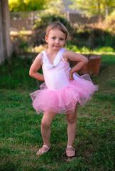 Ballerina Toddler Girl Outside