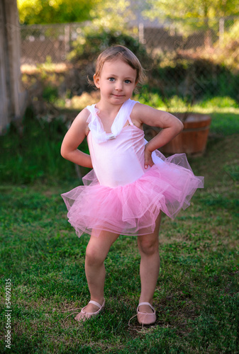 Ballerina Toddler Girl Outside