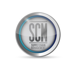 supply chain management button illustration
