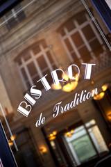 Français, vitrine, restaurant, bistrot, rétro, tradition, repas