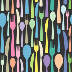 vector seamless cutlery wallpaper pattern