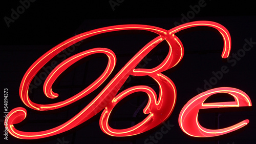 Be red neon