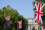 Admiralty Arch and Union Flags in London