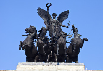 Wellington Arch Quadriga in London