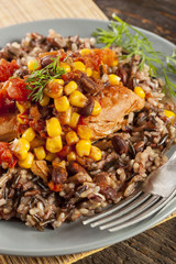 Southwestern Chicken with Rice and Corn