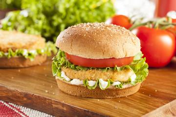 Breaded Chicken Patty Sandwich on a Bun