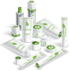 White Cosmetics Array - Vector