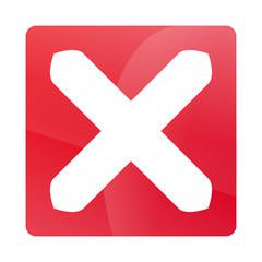 Weißes X auf Rot