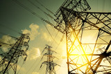 The power transmission towers of sky background - 54095356