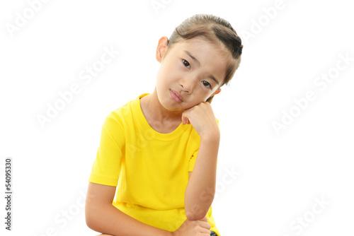 憂鬱な表情の女の子