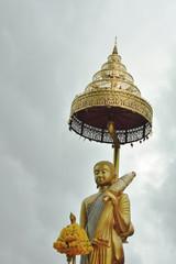 big buddha statue in pilgrimage practice