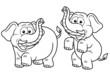 Vector illustration of Cartoon Elephant