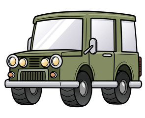 Vector illustration of cartoon car