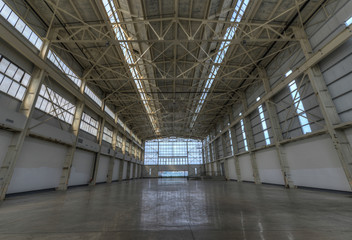 Newly constructed empty warehouse/factory