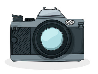 Retro cartoon foto camera