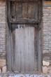 Abandoned the old wood door
