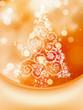 Christmas Tree on bokeh, Greeting Card. EPS 8
