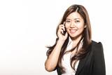 Asian woman at phone