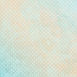Retro Background Dots Turquoise/Beige