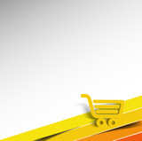 shopping cart icon, shopping basket design- vector illustration