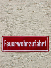 fire driveway sign 1 Germany Feuerwehrzufahrt