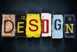 Design word on vintage car license plates, concept sign