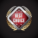 Best choice - chrome metallic best choice  shield