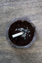Coffee ground ashtray