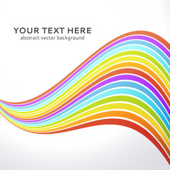 Abstract wavy rainbow background.