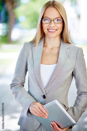 Charming business worker