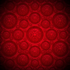 Red Velvet Background with Classic Ornament