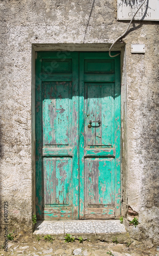 Wooden door. Tursi. Basilicata. Italy.