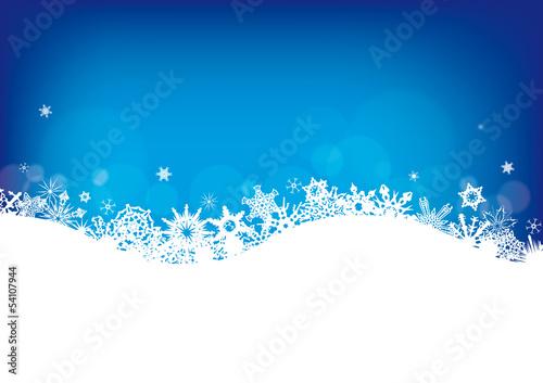 Schneeflocken als Hintergrund zu Weihnachten