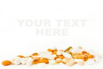 Pills isolated on white