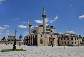 Selimiye Mosque and Mevlana  sufi center in Konya