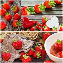 Erdbeer Collage
