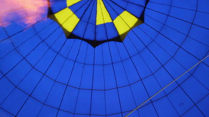 Balloon air gas heating, shot inside during flight